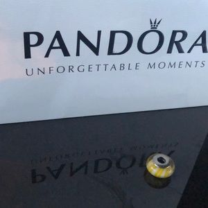 Pandora Yellow Stripe Charm
